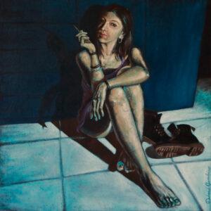 BLUE-WARDROBE Opera di Debora Gambino
